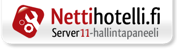 Hallintapaneeli: server11.nettihotelli.fi